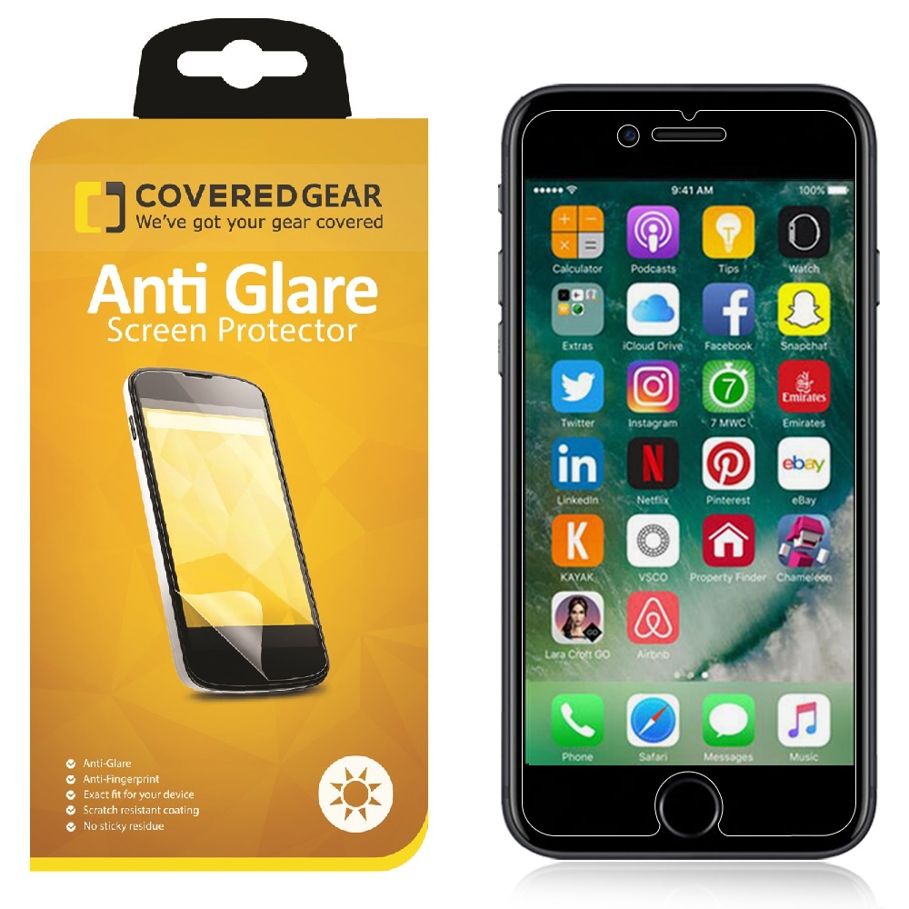 CoveredGear Anti-Glare skärmskydd till iPhone 8/7/6