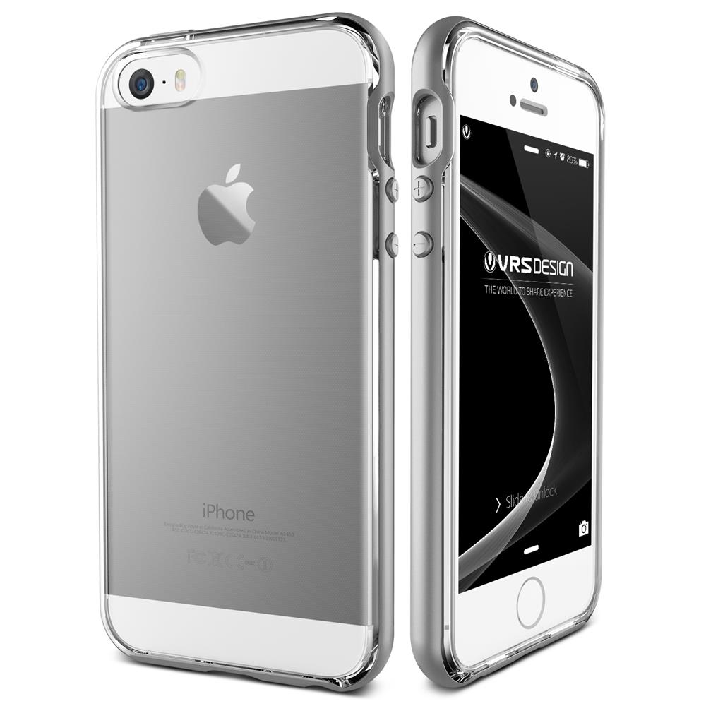 verus crystal bumper skal till apple iphone 5 5s se silver themobilestore. Black Bedroom Furniture Sets. Home Design Ideas