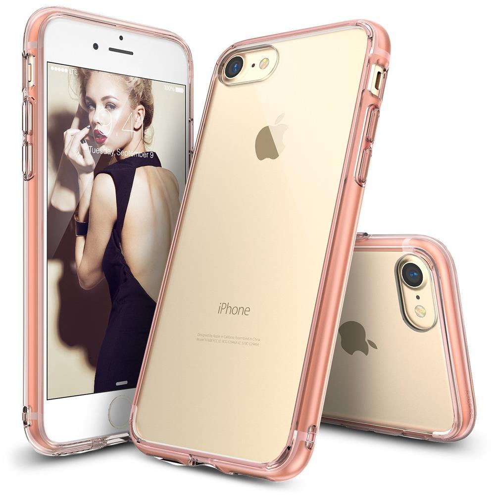 ringke fusion shock absorption skal till iphone 8 7 rose gold themobilestore. Black Bedroom Furniture Sets. Home Design Ideas