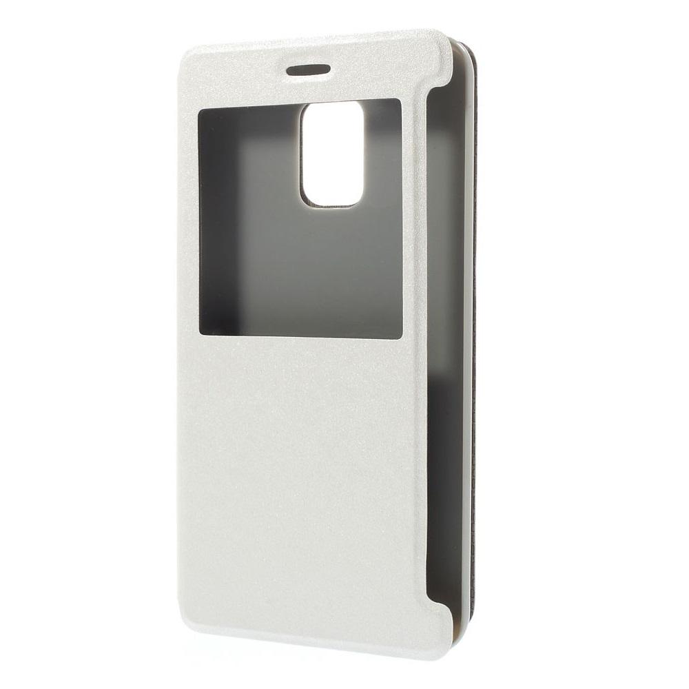 MobilFodral med fönster till Samsung Galaxy Note Edge - Vit