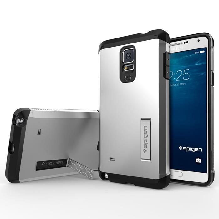 SPIGEN Tough Armor Skal till Samsung Galaxy Note 4 (Satin Silver)