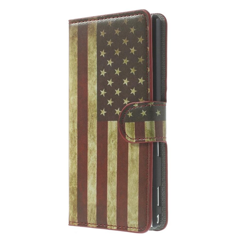 Plånboksfodral till Sony Xperia M2 - America