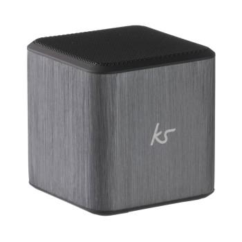 KITSOUND Högtalare Cube Silver 3,5mm anslutning
