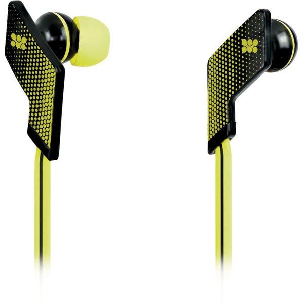 Promate Swank - In-ear headset, flatkabel, gul