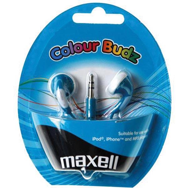 Maxell Colour Budz öronsnäckor, hörlurar - Blå