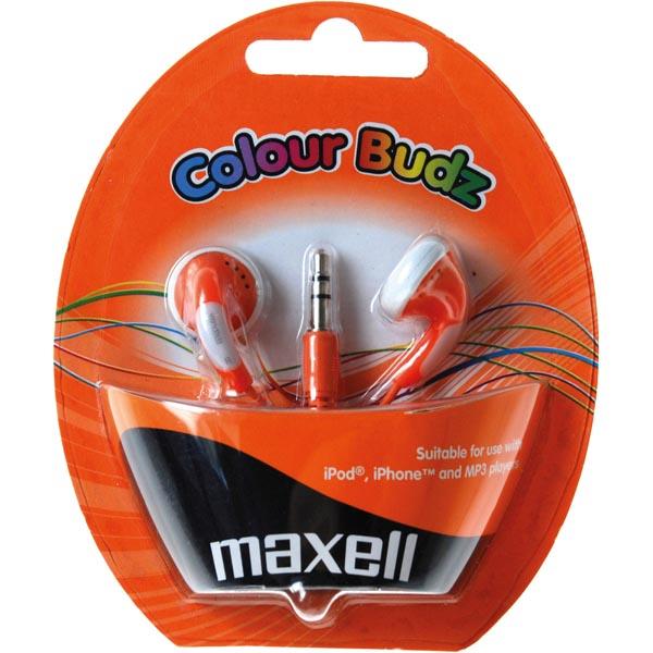 Maxell Colour Budz öronsnäckor, hörlurar - Orange