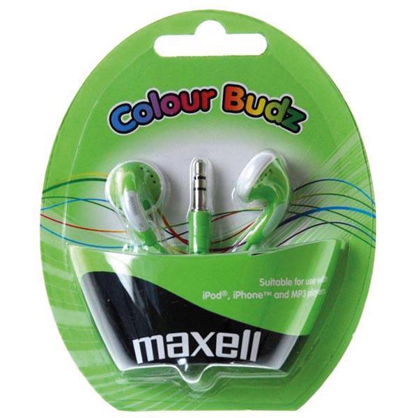 Maxell Colour Budz öronsnäckor, hörlurar - Grön