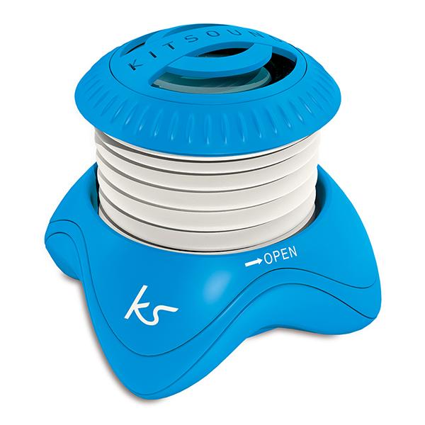 KITSOUND Högtalare Invader Blå 3,5mm anslutning
