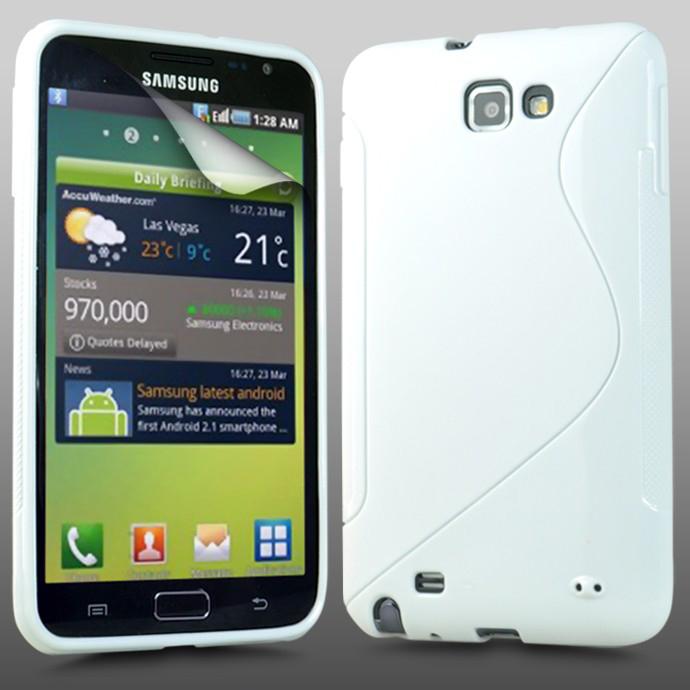 FlexiCase Skal till Samsung Galaxy S WiFi 5,0 - (Vit)