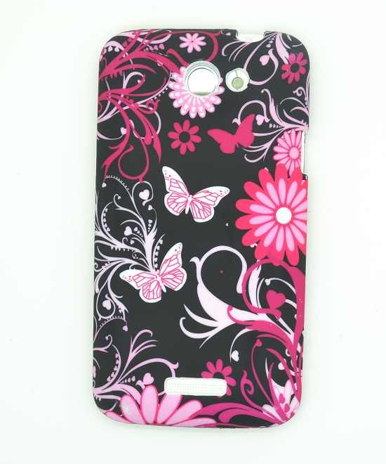 FlexiCase Skal till HTC ONE X (Black Butterfly)