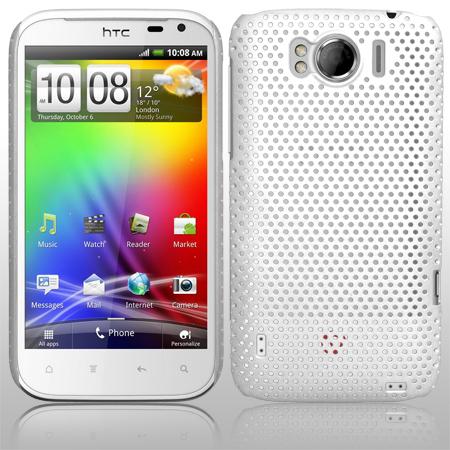 Mesh Baksideskal till HTC Sensation XL (Vit)