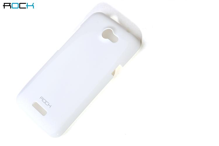 Rock Colorful Skal till HTC ONE X (VIT) + HD Skärmskydd