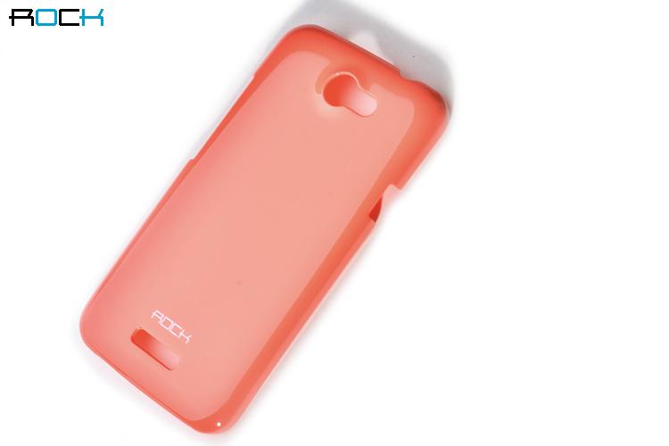 Rock Colorful Skal till HTC ONE X (ORANGE) + HD Skärmskydd