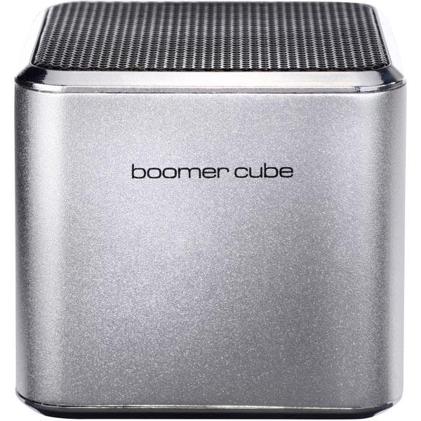 Ultron boomer cube, aktiv minihögtalare med inbyggt batteri - Silver