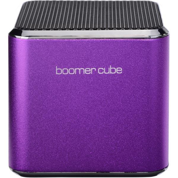 Ultron boomer cube, aktiv minihögtalare med inbyggt batteri - Lila