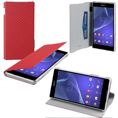 Roxfit - Made for Xperia - Book flip case till Sony Xperia Z2 (Carbon Röd)