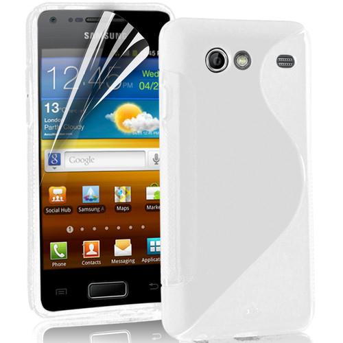 FlexiCase Skal till Samsung S Advance i9070 (Vit)