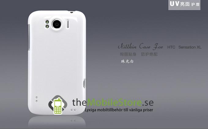 Baksideskal till HTC Sensation XL + Skärmskydd (Vit)