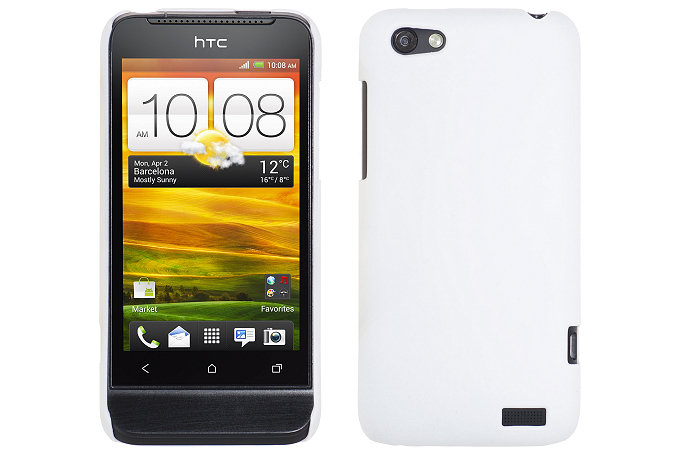 Baksideskal till HTC ONE V (Vit)