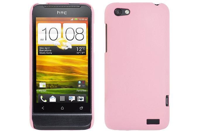Baksideskal till HTC ONE V (Rosa)