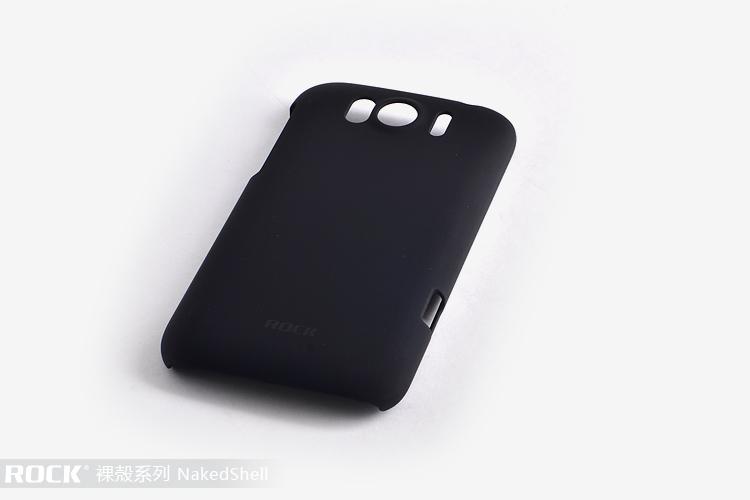 Rock NakedShell till HTC Sensation XL (Svart) + HD Skärmskydd