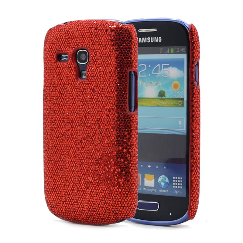 Glitter Skal till Samsung Galaxy Trend S7560 (Röd)