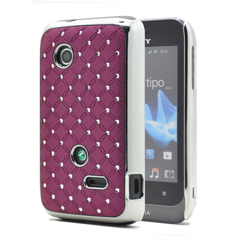Diamante skal till Sony Xperia Tipo ST21i - (Rödbrun)