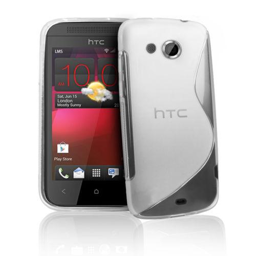 FlexiCase Skal till HTC Desire 200 (Transparent)