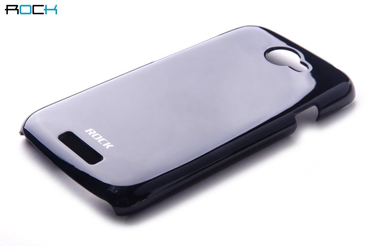 Rock Colorful Skal till HTC ONE S + HD Skärmskydd (SVART)