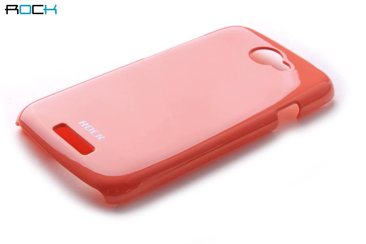 Rock Colorful Skal till HTC ONE S + HD Skärmskydd (Orange)