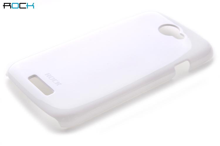 Rock Colorful Skal till HTC ONE S + HD Skärmskydd (Vit)