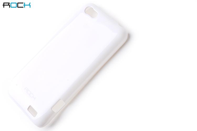 Rock Colorful Skal till HTC ONE V + HD Skärmskydd (Vit)
