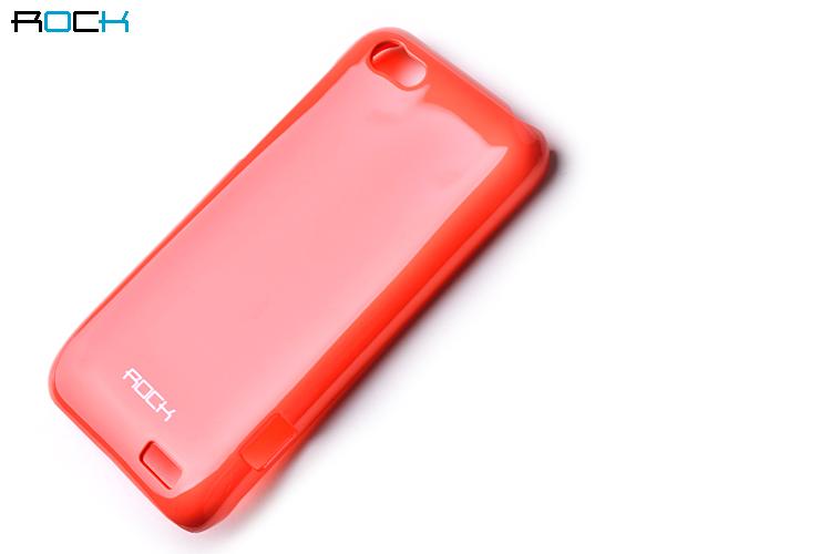 Rock Colorful Skal till HTC ONE V + HD Skärmskydd (Orange)