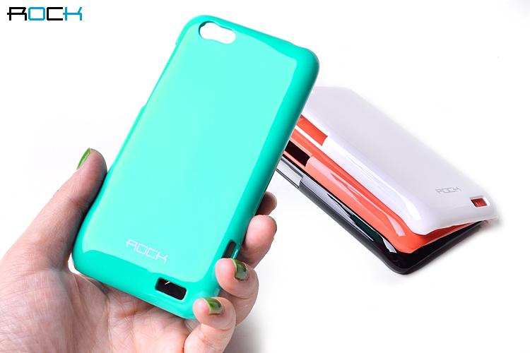 Rock Colorful Skal till HTC ONE V + HD Skärmskydd (Turkos)