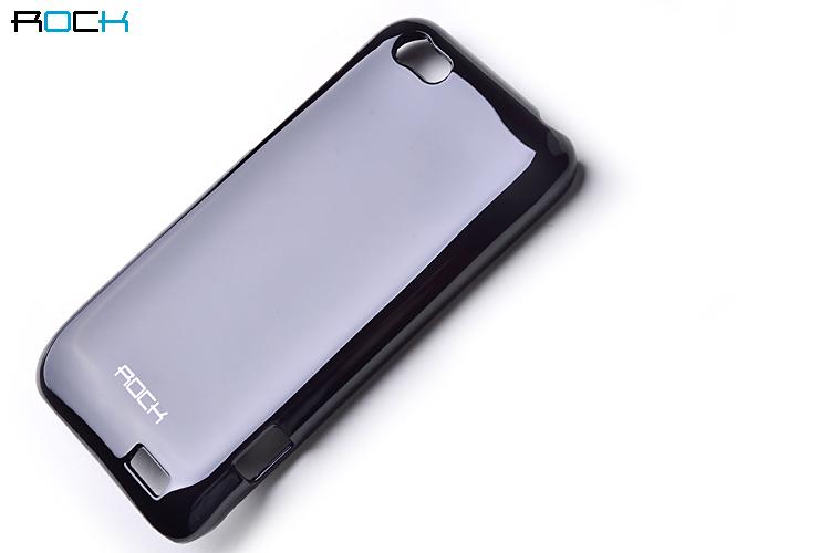 Rock Colorful Skal till HTC ONE V + HD Skärmskydd (Svart)
