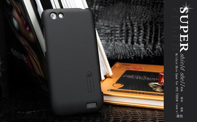 Nillkin Baksideskal till HTC ONE V (Svart) + Skärmskydd