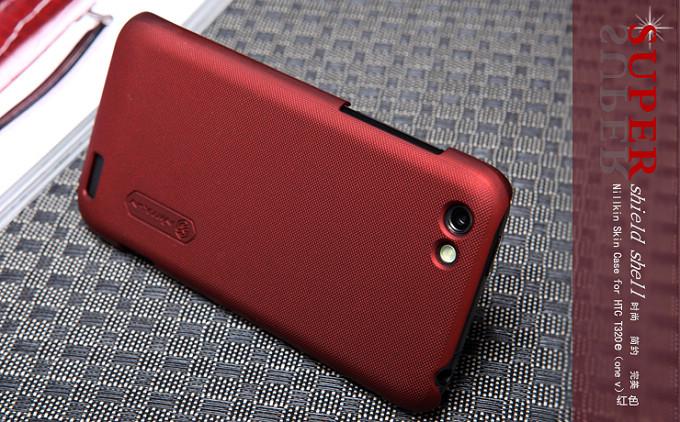 Nillkin Baksideskal till HTC ONE V (Röd) + Skärmskydd
