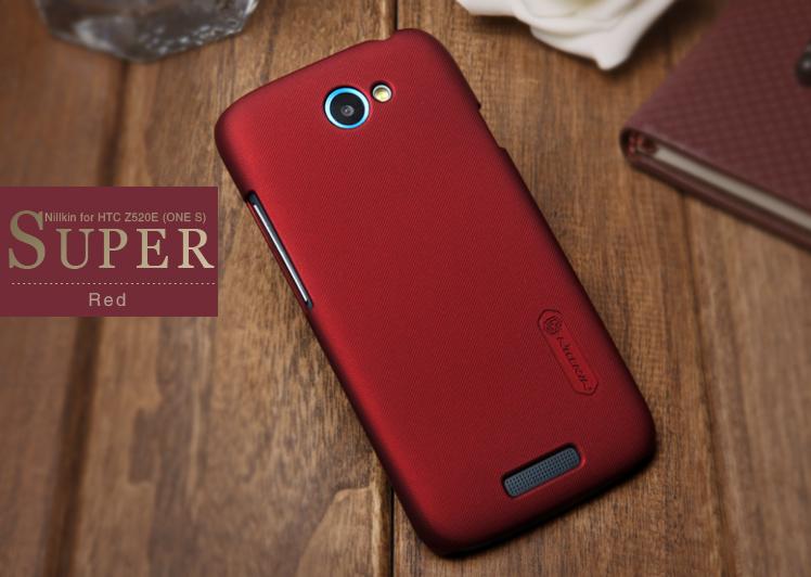 Nillkin Baksideskal till HTC ONE S (Röd) + Skärmskydd