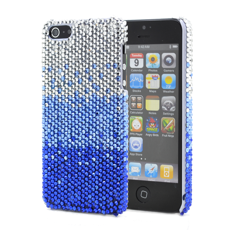 Bling Bling Skal till Apple iPhone 5/5S/SE - Mörkblå