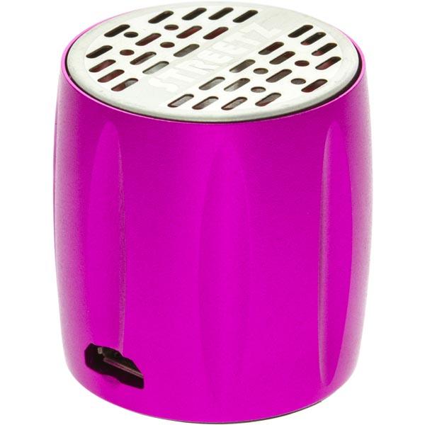 STREETZ Mini högtalare med inbyggt batteri Rosa