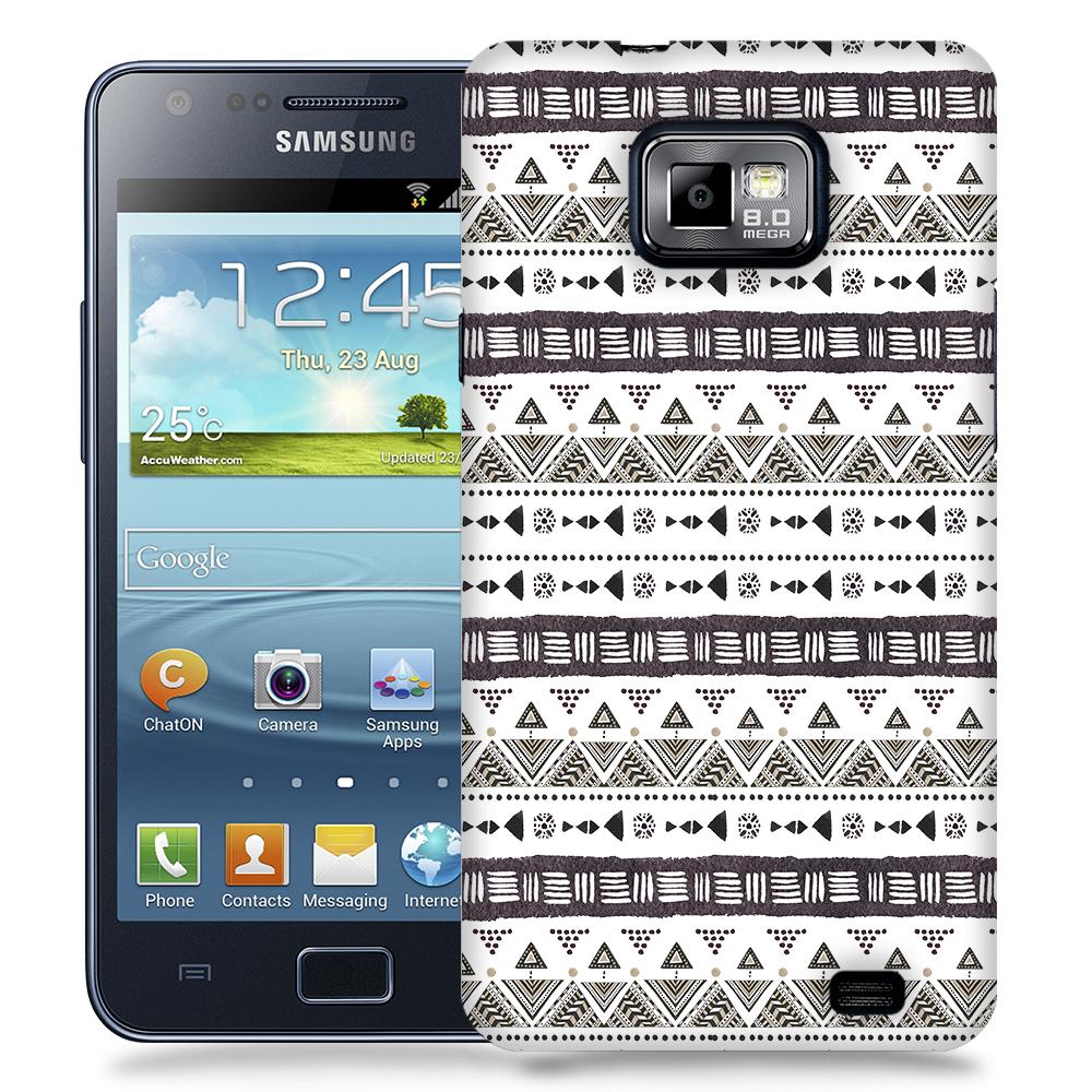 Skal till Samsung Galaxy S2 - Mönster - Svart/Vit