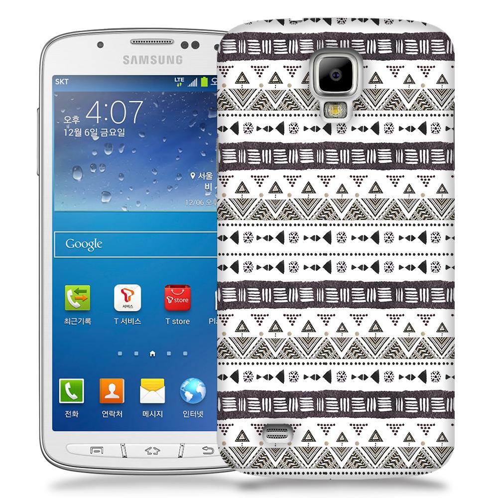 Skal till Samsung Galaxy S4 Active - Mönster - Svart/Vit