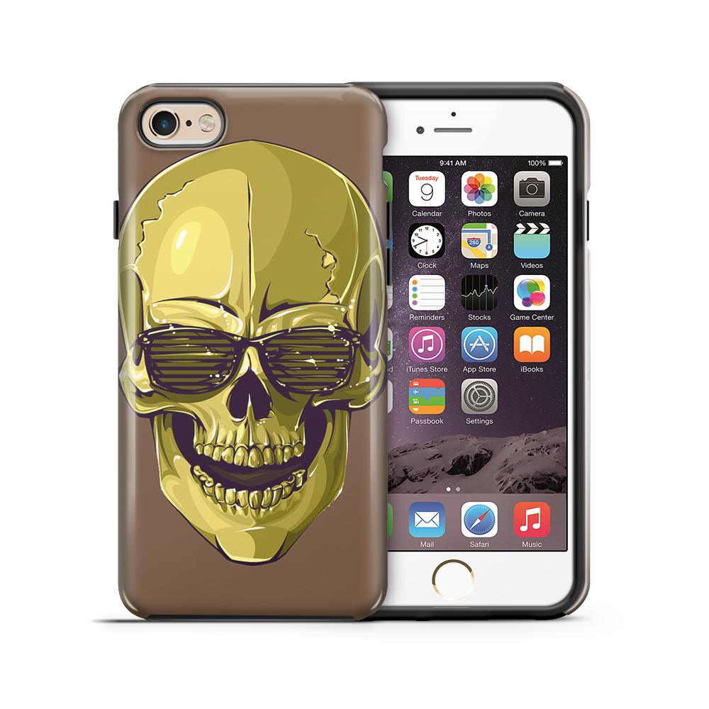 TheMobileStoreTough mobilskal till Apple iPhone 6(S) Plus - Hipster Skull Brun