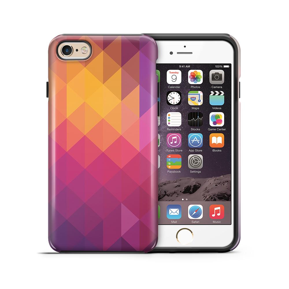 themobilestore-3Tough mobilskal till Apple iPhone 6(S) Plus - Polygon - Gul/Rosa