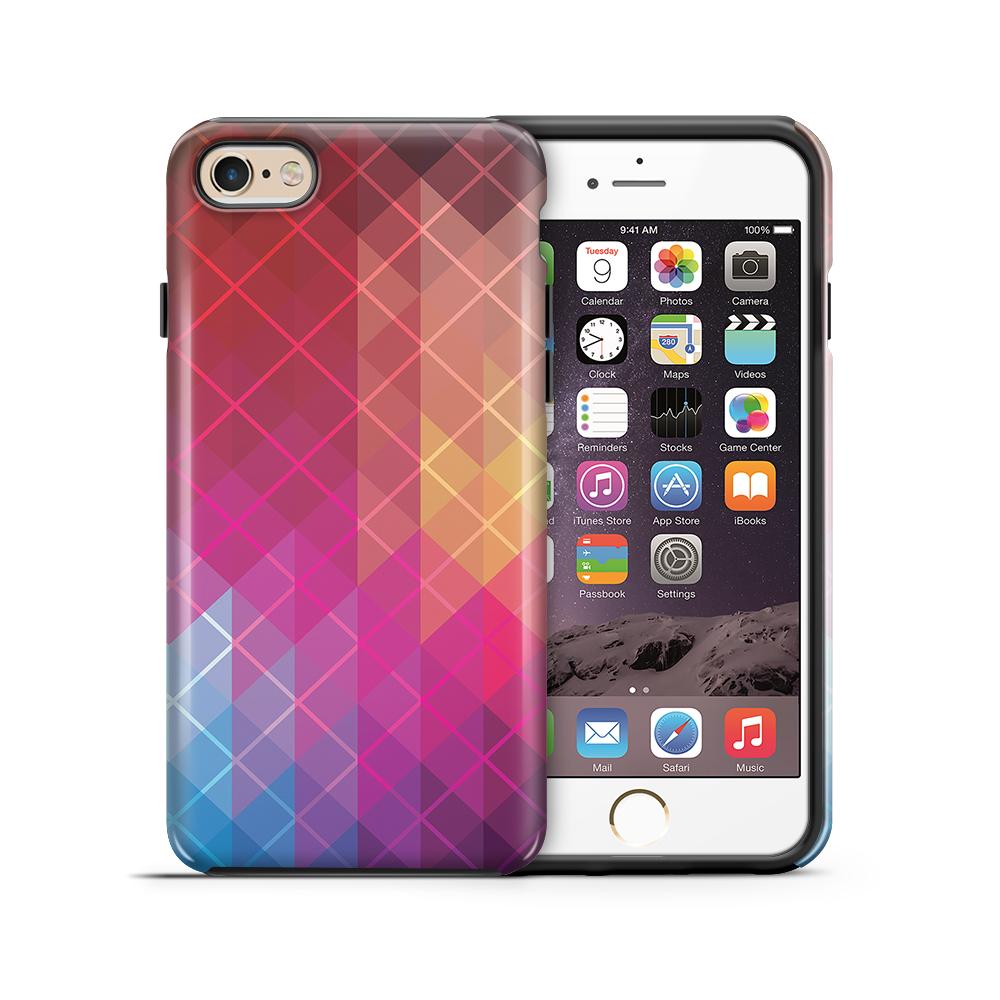 themobilestore-3Tough mobilskal till Apple iPhone 6(S) Plus - Röda kvadrater