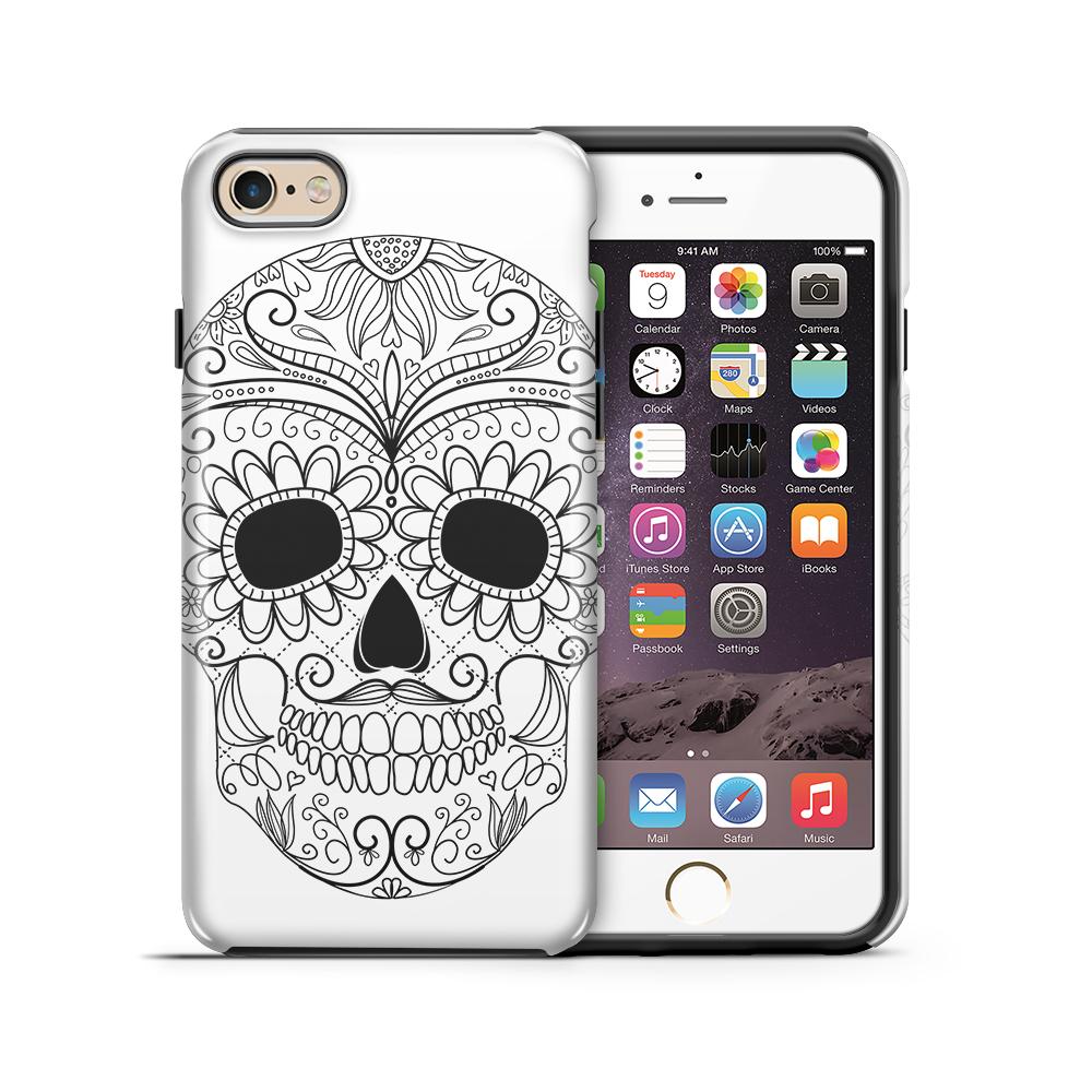 themobilestore-3Tough mobilskal till Apple iPhone 6(S) Plus - Glad dödskalle - Vit