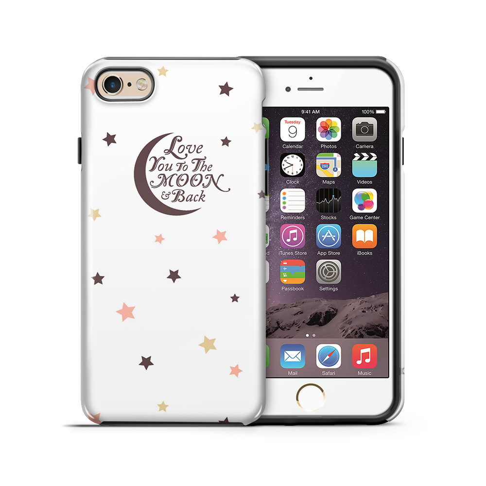 themobilestore-3Tough mobilskal till Apple iPhone 6(S) Plus - Love you to the moon and back - Br