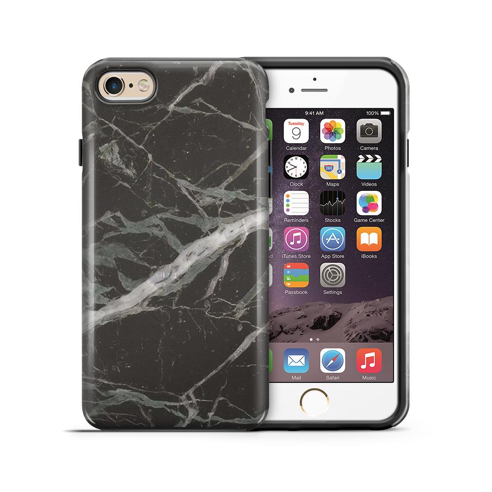 TheMobileStoreTough mobilskal till Apple iPhone 6(S) Plus - Marble - Svart