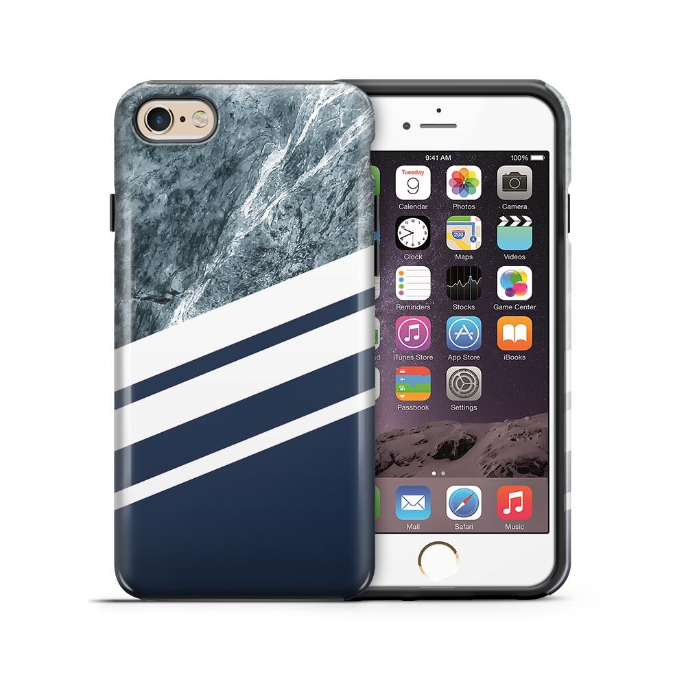 themobilestore-3Tough mobilskal till Apple iPhone 6(S) Plus - Marble Navy