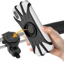 "A-One BrandUniversal Borttagbar mobilhållare till cykel - Passar Mobiler 4"" - 6.5"" - Svart"